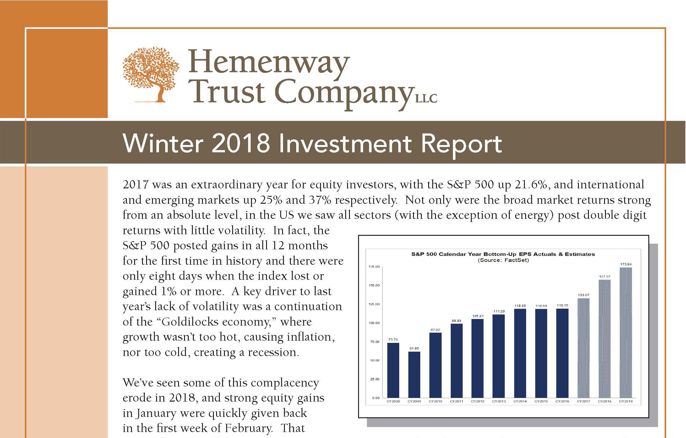 Winter 2018 Investment Report